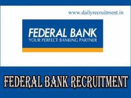 Federal Bank Recruitment 2019