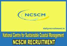 NCSCM Chennai Recruitment 2018