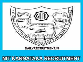 NIT Karnataka Recruitment 2019