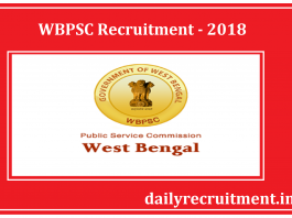 WBPSC Recruitment 2018