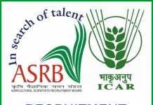 ASRB Recruitment 2019