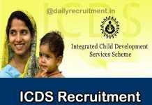 ICDS MP Recruitment 2018