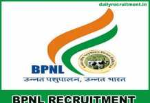 BPNL Recruitment 2019