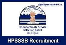HPSSSB Recruitment 2019