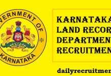 Karnataka Land Record Recruitment 2017