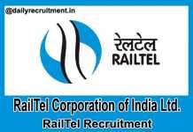 RailTel Recruitment 2018