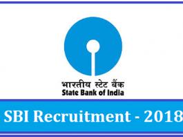 SBI Recruitment 2018