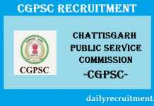 CGPSC Recruitment 2019