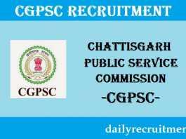 CGPSC Recruitment 2019