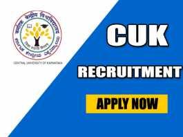 CUK Recruitment 2019