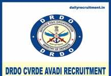 DRDO CVRDE Avadi Recruitment 2020