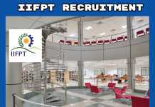 IIFPT Thanjavur Recruitment 2019