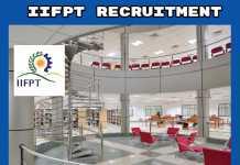 IIFPT Thanjavur Recruitment 2019