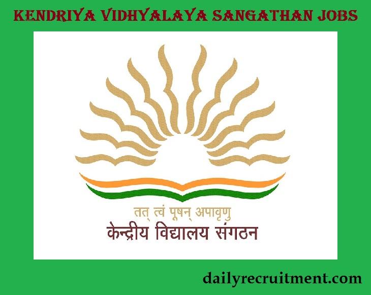 Kendriya Vidhyalaya Sangathan Recruitment 2020