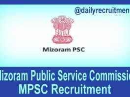Mizoram PSC Recruitment 2019