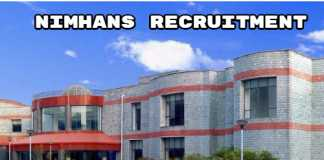 NIMHANS Recruitment 2019