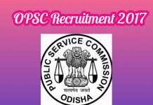 OPSC Recruitment 2017