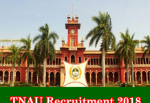 TNAU Recruitment 2018