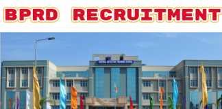 BPRD Recruitment 2019