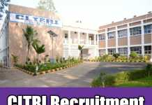 CLTRI Recruitment 2019