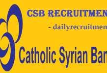 Catholic Syrian Bank Recruitment 2019