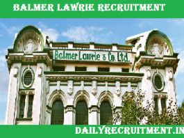 Balmer Lawrie Recruitment 2019