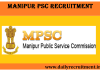 Manipur PSC Recruitment 2018