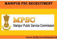 Manipur PSC Recruitment 2019