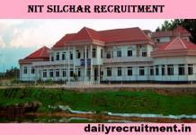 NIT Silchar Recruitment 2019