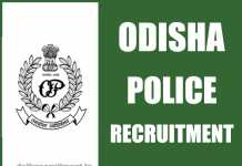 Odisha Police Recruitment 2019