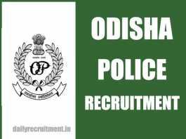 Odisha Police Recruitment 2018