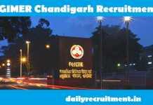 PGIMER Chandigarh Recruitment 2019
