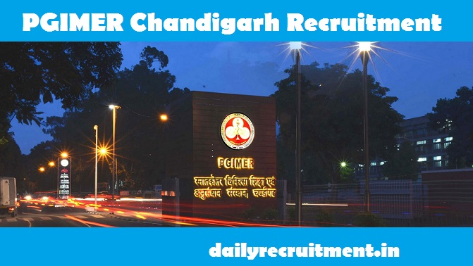 PGIMER Chandigarh Recruitment 2020
