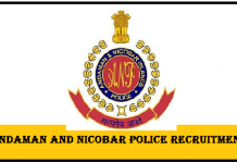 Andaman & Nicobar Police Recruitment 2019