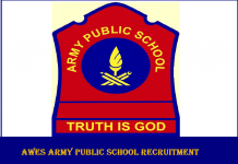 AWES Army Public School Recruitment
