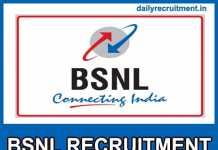 BSNL MT Recruitment 2019