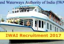 IWAI Recruitment 2017