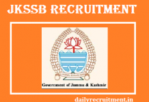 JKSSB Recruitment 2019