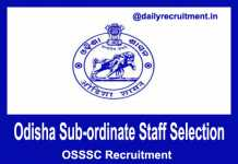 OSSSC Recruitment 2019