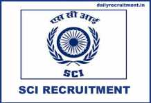SCI Recruitment 2020