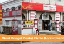 WB Postal Circle Recruitment 2019