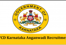 WCD Karnataka Anganwadi Recruitment 2019