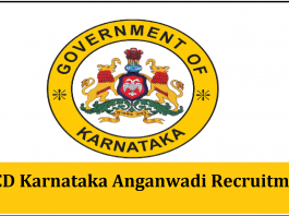 WCD Karnataka Anganwadi Recruitment 2020