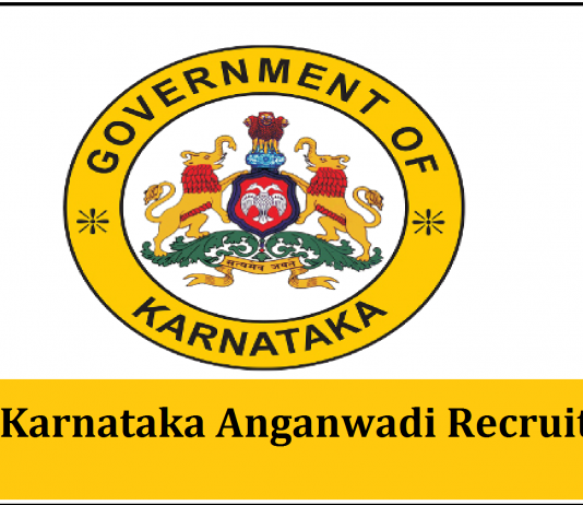WCD Karnataka Anganwadi Recruitment 2018