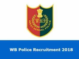 WB Police Recruitment 2018