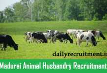 Madurai Animal Husbandry Recruitment 2019