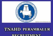 Perambalur TNAHD Recruitment 2020
