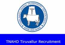 TNAHD Tiruvallur Recruitment 2020