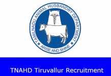 TNAHD Tiruvallur Recruitment 2020