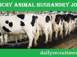 Trichy Animal Husbandry Recruitment 2019